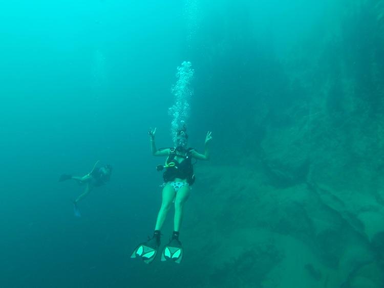 diving Barracuda Lake Coron