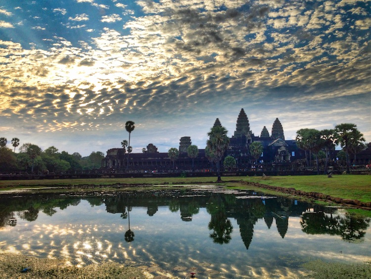 Angkor Wat unusual sunrise