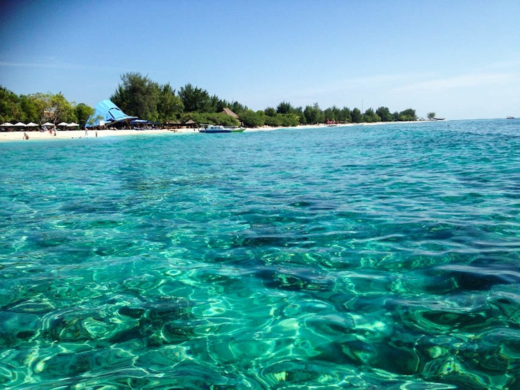 beach in Gili Islands