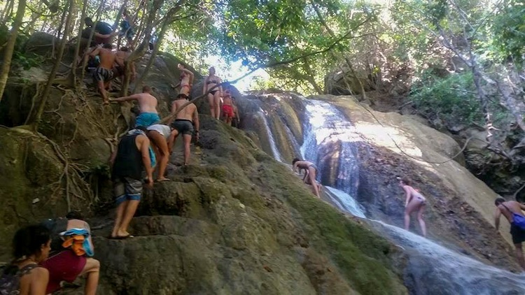 waterfall hiking on Komodo Island trip