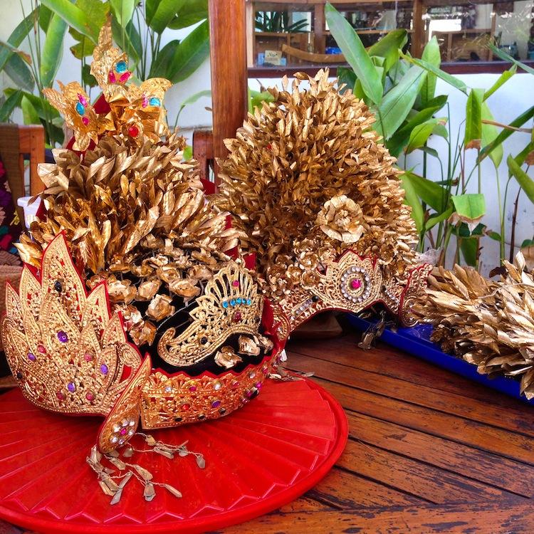 Bali bridal headpieces