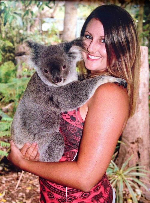 cuddling a koala Brisbane