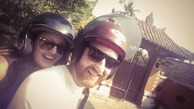 motorbiking in Bali