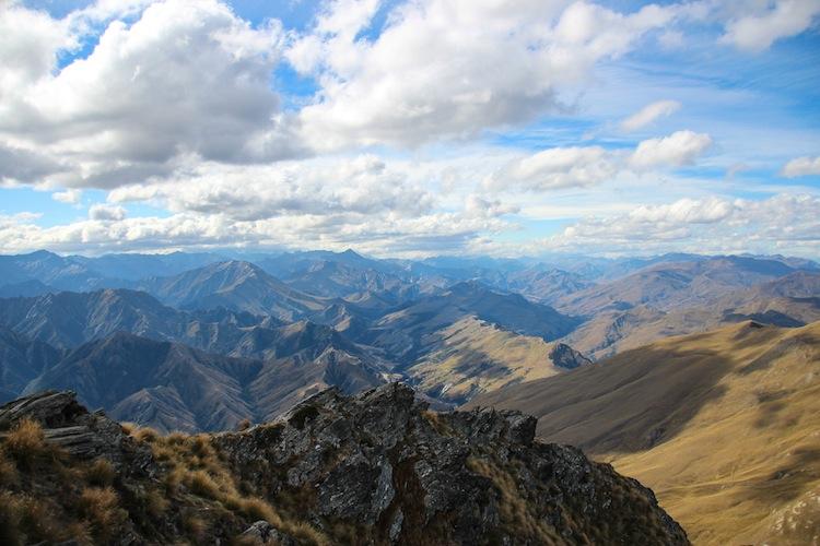 view from Ben Lomond peak Queenstown