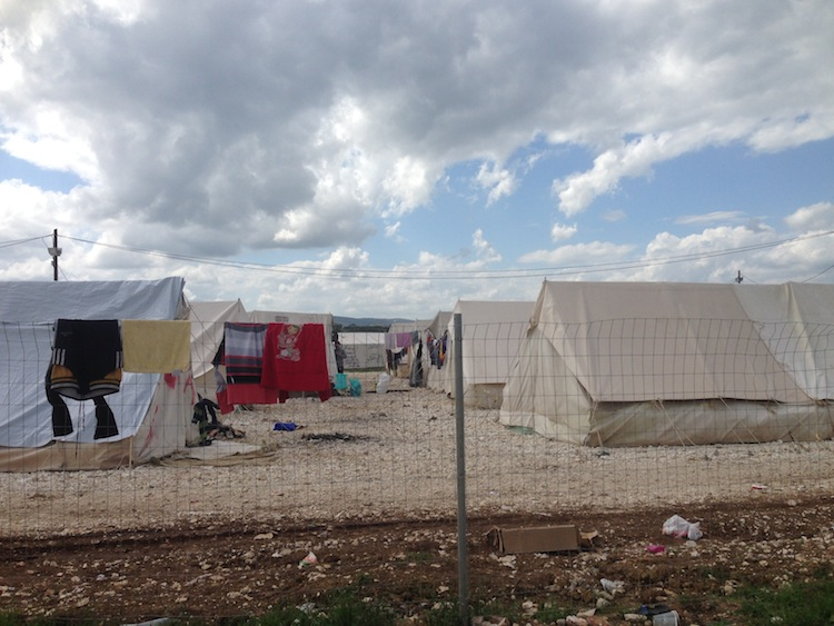 volunteering at a refugee camp in Greece