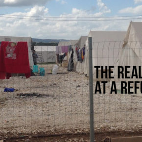 volunteering at a refugee camp