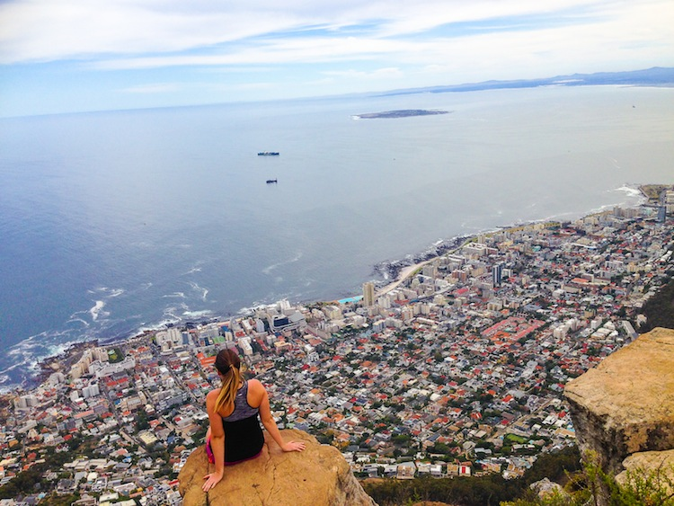 view from Lion's Head Capetown