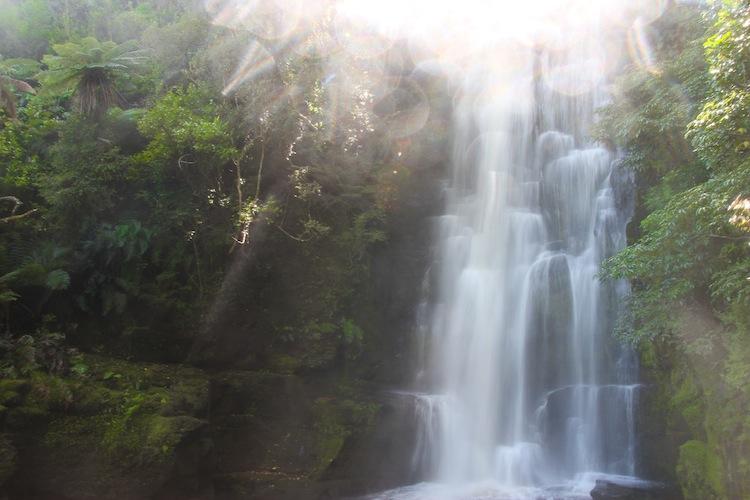 Waterfall in Catlins New Zealand