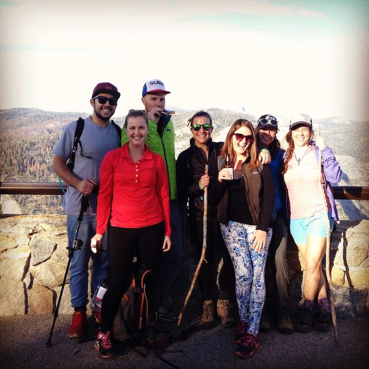 hiking crew in Yosemite